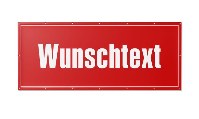 PVC-Werbebanner mit Wunschtext